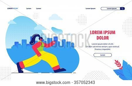 Travel Agency Flat Landing Page Vector Template. Traveler On Holiday Abroad Cartoon Character. Young