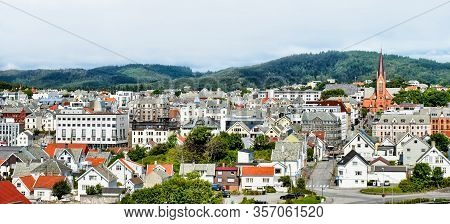 Cityscape Of Haugesund In The Province Of Rogaland In Norway