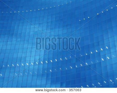 Buisness Building Blue Face