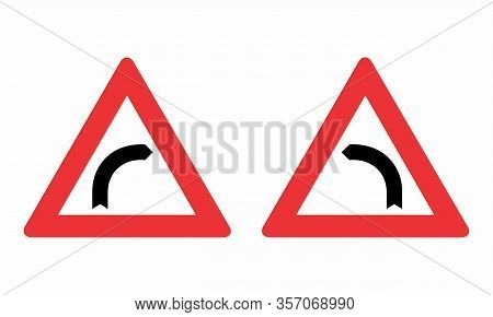 The Left And Right Curve Warning Signs