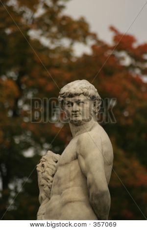 Marble Sculpture In The Garden