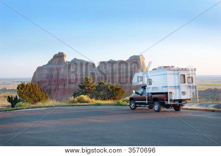 Camper In The Badlands
