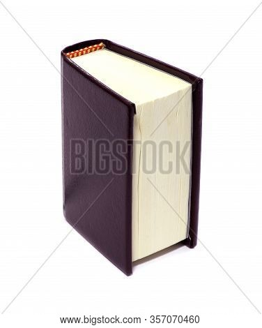 A Book Isolated On White Background. A Mini Souvenir Dook Isolated.