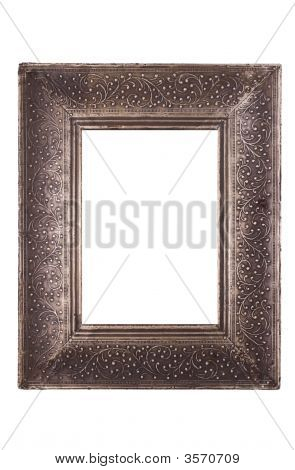Empty Old Pewter Frame