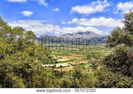 Lasithi Plateau On Crete Island In Greece