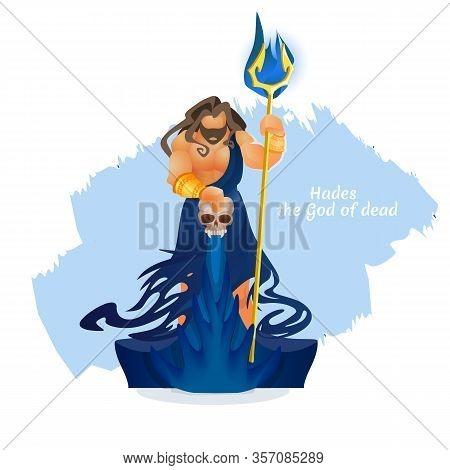 Hades, Pluto Or Aidis God Of Dead. Character Of Greek Roman Mythology. Underworld King , Mythologica