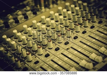 Professional Mixer, Sound Control Detail, Music Party