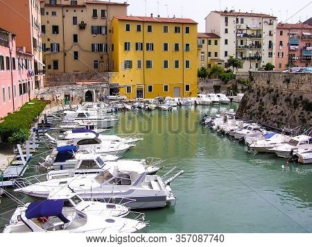 Canal In The City Of Livorno In Tuscany (italy)