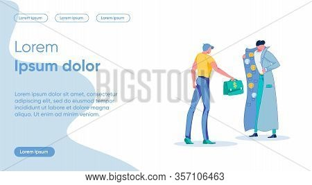 Idea Trading Flat Landing Page Vector Template. Secret Deal, Illegal Trade Metaphor. People With Mon