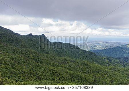 El Yunque Mountain Ridge And Atlantic Coast In Puerto Rico