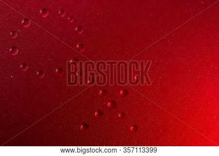 Gender Woman Symbol In Neon Light Background Drops Trend 2020 Color Lush Lava, Flat Lay Top View Cop