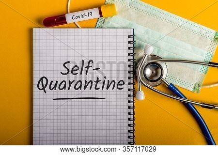 Self-quarantine. The Office Is Quarantined, Advice To Work From Home . Pandemic Covid-19 Coronavirus