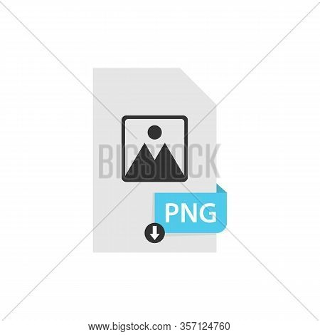 Png Download File Format Vector Image. Png File Icon Flat Design Graphic Vector