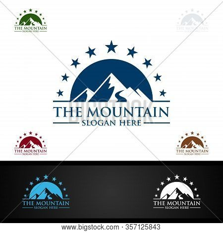 Mountain Logo Design, Concept For Nature Sports, Expedition Or Photography