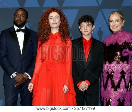 LOS ANGELES - OCT 27:  Byron Bowers, Alma Har El, Noah Jupe, Daniela Taplin Lundberg at the Governors Awards at the Dolby Theater on October 27, 2019 in Los Angeles, CA