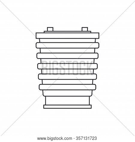 Line Vector Icon Auto Moto Parts Accessories - Piston. Repair Service Equipment. Engine Elements Sho