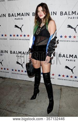 LOS ANGELES - NOV 21:  Bella Thorne at the 'PUMA x Balmain- created with Cara Delevingne' LA Launch Event at the Milk Studios on November 21, 2019 in Los Angeles, CA