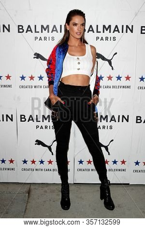 LOS ANGELES - NOV 21:  Alessandra Ambrosio at the 'PUMA x Balmain- created with Cara Delevingne' LA Launch Event at the Milk Studios on November 21, 2019 in Los Angeles, CA