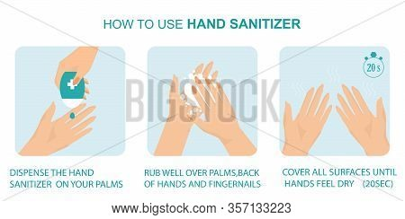 How To Use Hand Sanitizer Properly To Clean And Disinfect Hands,wash Your Hands, Disease Prevention