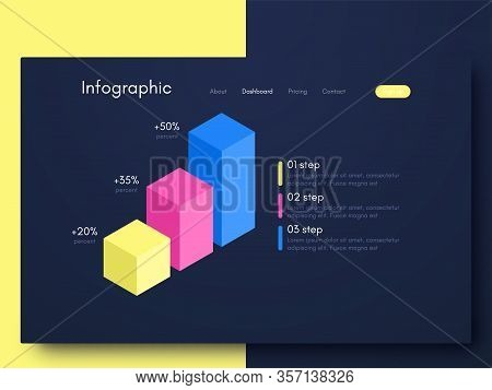 Vector Graphic Infographics. Template For Creating Mobile Applications, Workflow Layout, Diagram, Ba