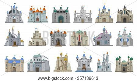 Medieval Castle Vector Cartoon Set Icon. Isolated Cartoon Set Icon Knight Fortress. Vector Illustrat