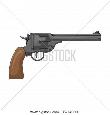 Revolver Of Gun Vector Icon.cartoon Vector Icon Isolated On White Background Revolver Of Gun.