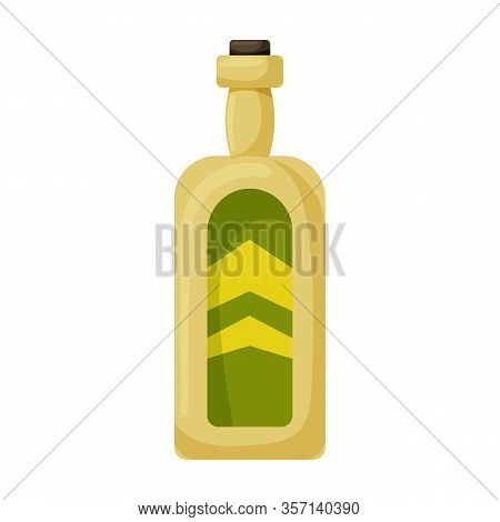 Bottle Whiskey Vector Icon.cartoon Vector Icon Isolated On White Background Bottle Whiskey.