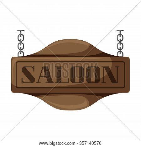 Western Saloon Vector Icon.cartoon Vector Icon Isolated On White Background Western Saloon.