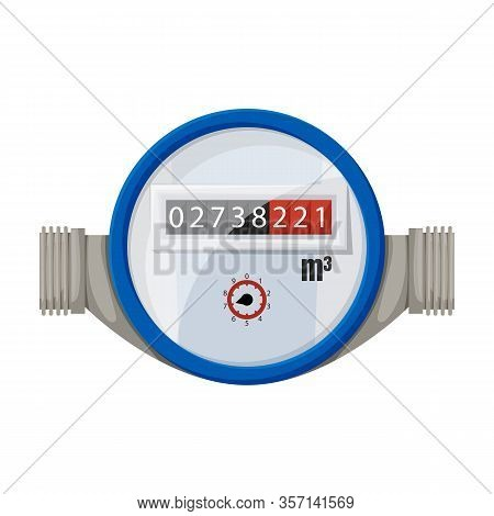 Water Meter Vector Icon.cartoon Vector Icon Isolated On White Background Water Meter .