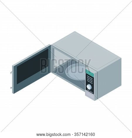 Microwave Vector Icon. Isometric Vector Icon Isolated On White Background Microwave.