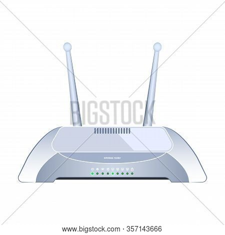 Router Vector Icon.realistic Vector Icon Isolated On White Background Router .