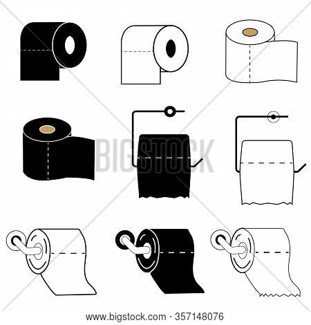 Paper Roll Icon On White Background. Flat Style. Toilet Paper Icon For Your Web Site Design, Logo, A