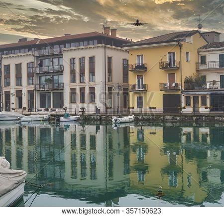Very Nice View Of Desenzano Del Garda In A Foggy Day