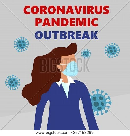 Covid-19, Mers-cov, Novel Corona Virus Disese 2019-ncov, Woman Man In Suit With Blue Medical Face Ma