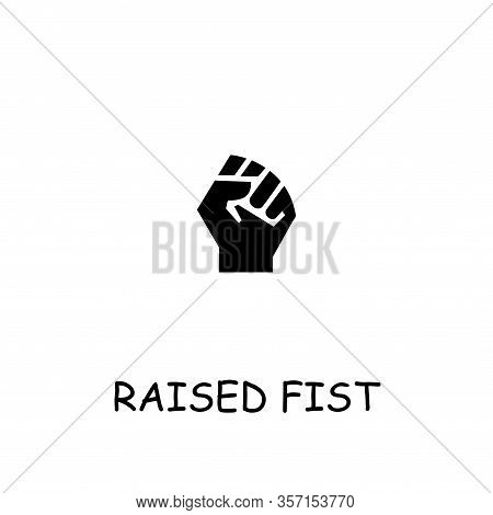 Raised Fist Flat Vector Icon. Hand Drawn Style Design Illustrations.