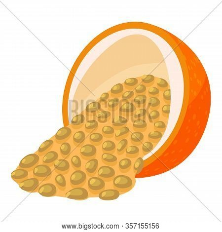 Exotic Passion Fruit Icon. Isometric Of Exotic Passion Fruit Vector Icon For Web Design Isolated On