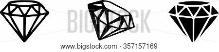 Diamond Icon Isolated On White Background Vintage, Wealthy, Woman