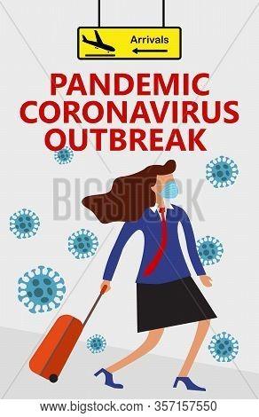 Pandemic Coronavirus Outbreak, Novel Corona Virus Disease Covid-19, 2019-ncov, Mers-cov, Wman In Sui