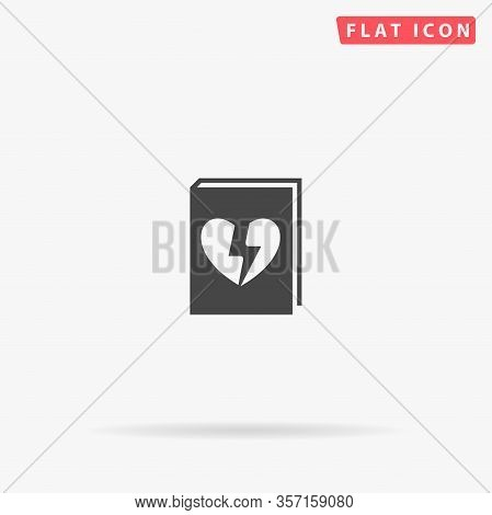 Dramatic Book Flat Vector Icon. Glyph Style Sign. Simple Hand Drawn Illustrations Symbol For Concept