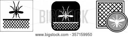 Mosquito Icon Isolated On Background Virus, Warning, Web