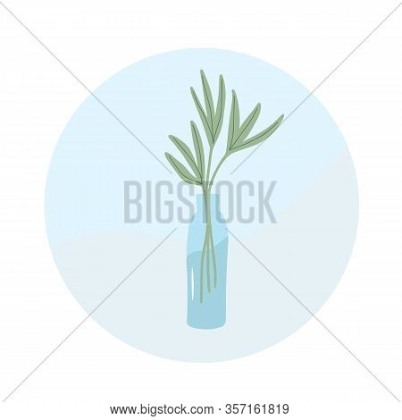 Plant Swap Sign Share Indoor Plants In A Bottle Of Water Event. Vector Flat Illustration.