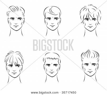 Six options for men's hairstyles