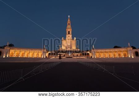 Basilica Of The Sanctuary Of Our Lady Of Fatima In Portugal