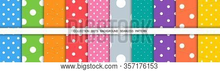 Dot Colorful Background. Dots Abstract Background. Template Background Dots. Mockup. Cover For Book.