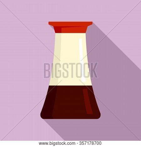 Vinegar Pot Icon. Flat Illustration Of Vinegar Pot Vector Icon For Web Design