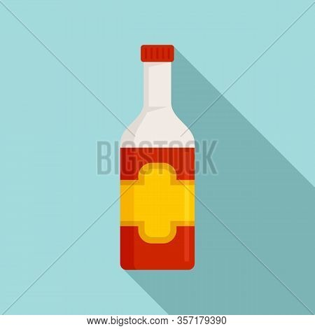 Culinary Condiment Bottle Icon. Flat Illustration Of Culinary Condiment Bottle Vector Icon For Web D