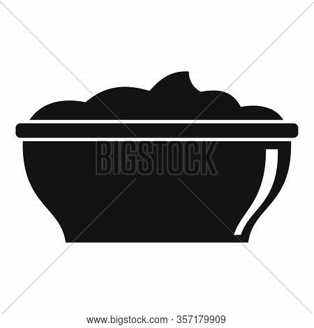 Mayonnaise Bowl Icon. Simple Illustration Of Mayonnaise Bowl Vector Icon For Web Design Isolated On