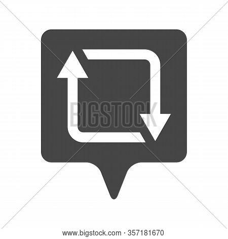 Illustration Of Flat Linear Repost, Retweet Or Refresh Social Media Icon