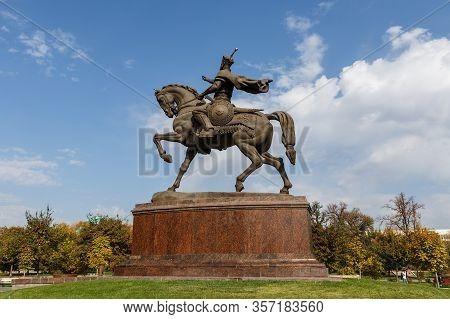 Tashkent, Uzbekistan - November 3, 2019: Amir Timur Monument. Monument To Amir Timur In Tashkent. Br