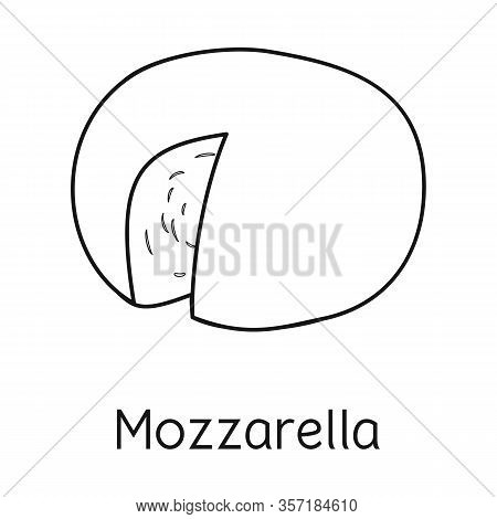 Isolated Object Of Cheese And Mozzarella Icon. Web Element Of Cheese And Piece Stock Vector Illustra